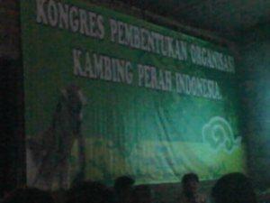 konggres pembentukan organisasi kambing perah Indonesia ASPEKPIN